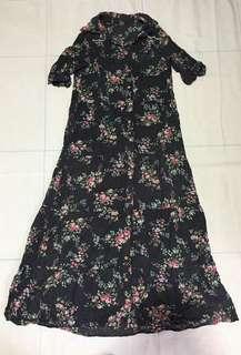 🌻 Floral Vintage Dress (nice in actual😍👌🏼)