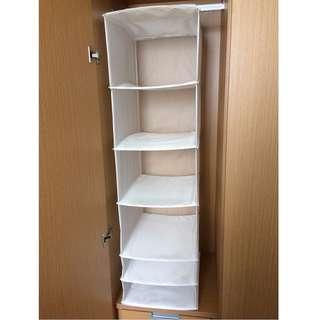 White storage and organiser box for clothes and accessories