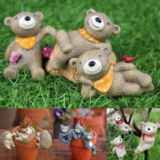 Animal Figurines: Miniature Garden Ornament/ Terrarium Decoration