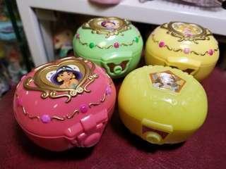 中古迪士尼扭蛋 公主寶石箱