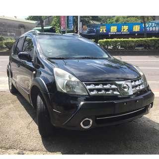 瑋哥車坊 正2012年Nissan Livina 恆溫大包頂架~大氣黑頭車只要 21.8萬!實車實價 一手車 非自售