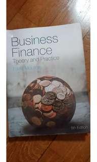 Business Finance Original Textbook