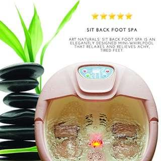 P8 ArtNaturals Foot Spa Massager with Heat – Lights and Bubbles - Soothe and Relax Tired Feet with All In One Therapeutic Home Salon and Massager Tub - Temperature Control - for Athletes Foot