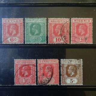 [lapyip1230] 大英帝國殖民地 1910-36年 喬治五世 共同圖案 舊票一份 VFU