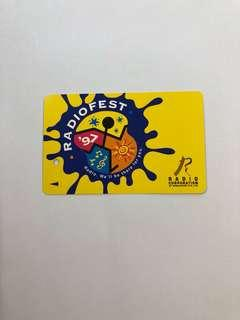 Clearing Stocks: Singapore Early SMRT/Transit Link Card - 1997 Radiofest