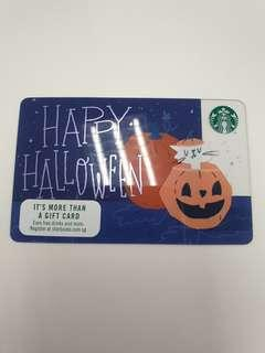 Halloween 2018 Starbucks Card