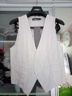 Vest Kemeja Jas Putih