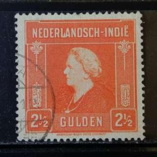[lapyip1230] 荷屬東印度(現印尼) 1930年 高面額 $2.5 舊票 VFU