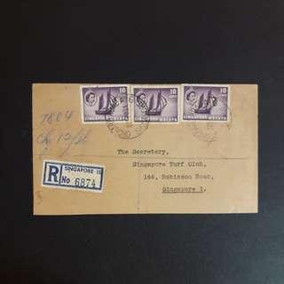 Singapore 1966 Postmark Orchard Road cover