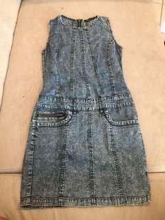 Denim fitting dress