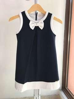 Bow navy dress