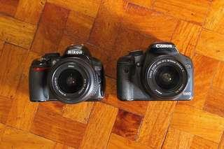 Nikon D3100 & Canon 500D for sale