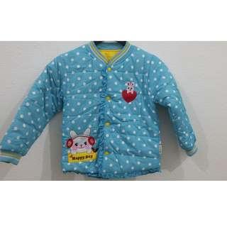 Children's cotton jacket double-sided coat