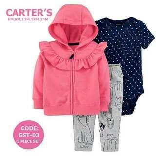 Carter's Baby 3pc Cardigan Set - GST03