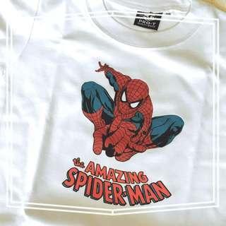 Marvel t-shirt spiderman hulk ironman