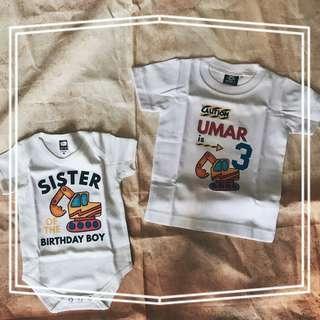 siblings matching t-shirt set romper brother sister