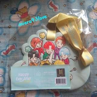 (WTS) BTS Happy Ever After Name Tag Holder