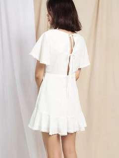 White flare dress