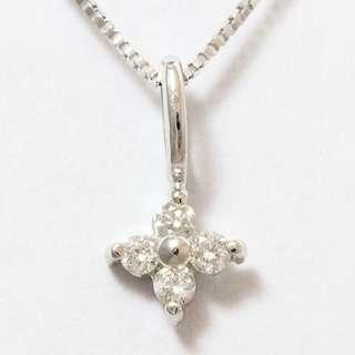18k Diamond Necklace (Chain & Pendant)
