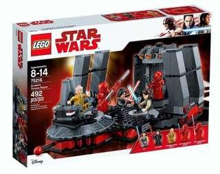 LEGO 75216 Star Wars Snoke's Throne Room (brand new but no minifigure)