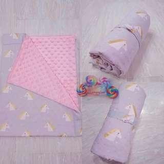 🚚 Customised Unicorn Baby Blanket