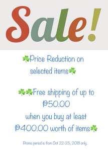 Sale!Promo!Sale!Promo!