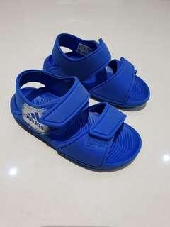 Toddler Blue Adidas Sandals