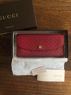 Authentic Gucci 'Guccisima' red wallet