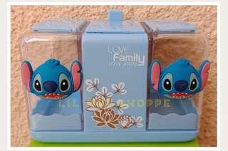 Stitch Cotton Buds Toothpick Dispenser Organizer