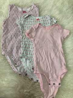 Preloved Carters Bodysuit 3pcs 6-9m