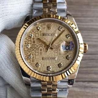 Rolex Datejust II 18K Gold Rolex Dial Diamond Swiss Engine 3235