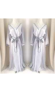 silver madeline bridal robe
