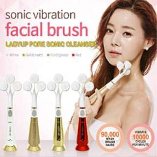 🚚 HARU Ladyup Mate 3-Head Sonic Vibration Pore Cleanser Electrical Facial Brush