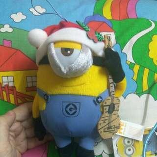 Minions 公仔 聖誕結他look