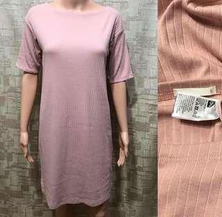 GU BLUSH NUDE TSHIRT DRESS