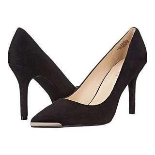 🚚 NINE WEST金屬尖頭麂皮高跟鞋/尺碼24/九成新附鞋盒