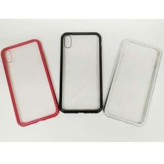 <iPhone XS MAX>**全新翻貨** 萬磁王360°全包磁性玻璃殼