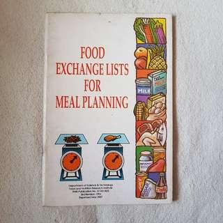 Food Exchange Lists for Meal Planning