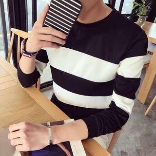 🚚 ✨【👗現貨❤ 經典款👗】🔥秋季新款潮流百搭大條紋長袖T恤✨