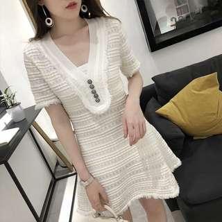 Korea tweed dress chanel style