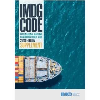 IMDG CODE Supplement, 2018 Edition - IMO Books
