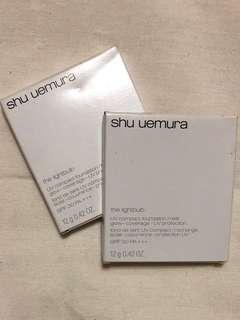 NEW Original Shu uemura uv compact foundation refill medium biege (bundle)
