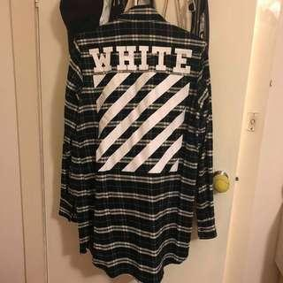 OFFWHITE FLANNEL GREY LARGE REPLICA