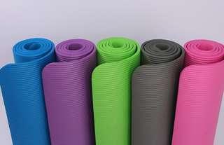 Yoga Mat with bag 10mm pilatte stretching sweat mat exercise floor mat