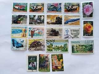 Australian stamps assorted
