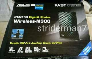 #Router ASUS dr Singapore RT-N 15 U New