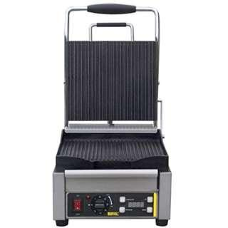 P8 Buffalo Single Contact Grill Ribbed Plates 235X290X395mm Electric BBQ Griddle