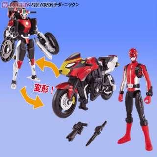 MBAF Sentai Power Rangers Morphing Bike and Figure Bandai Shf Sh Figuarts Red Buster Transformers Auto Vajin Autovajin