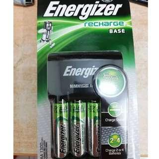 Official Energizer CHVC4 Recharge Base & Includes 4x AA 1300mah Rechargeable Batteries