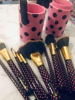 BH cosmetics makeup brush set